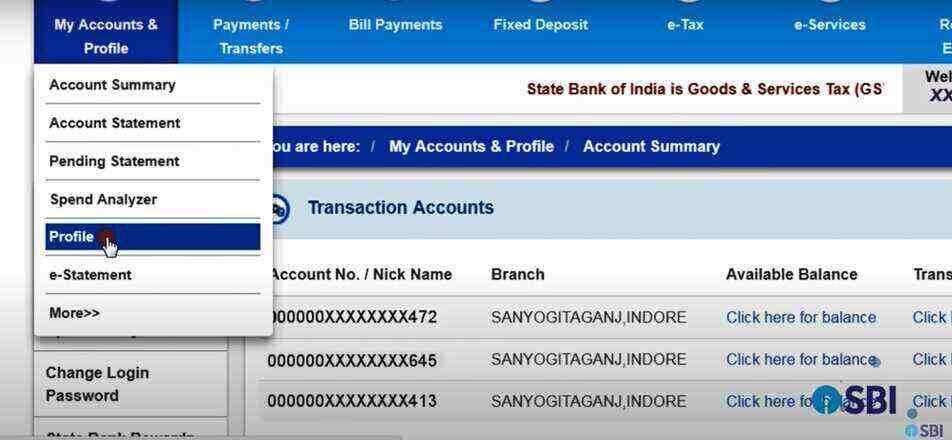 SBI Net Banking Profile Password