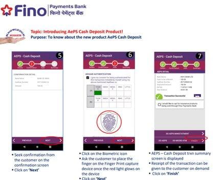 Fino Payment Bank Cash Deposit Process