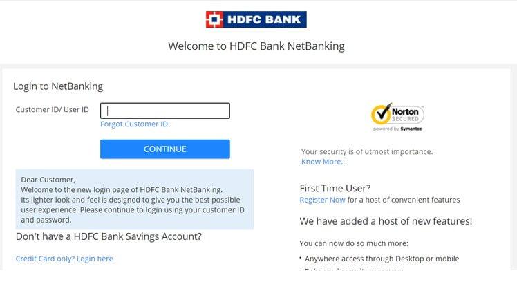 HDFC Bank NetBanking